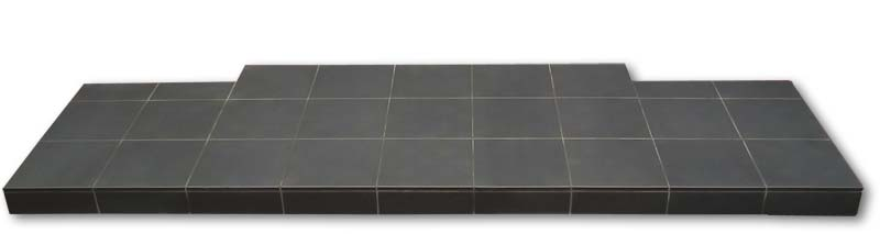 Standard matt black quarry tile hearth