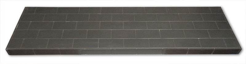 Cross bonded pattern hearth
