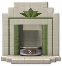 A double stepped front hearth