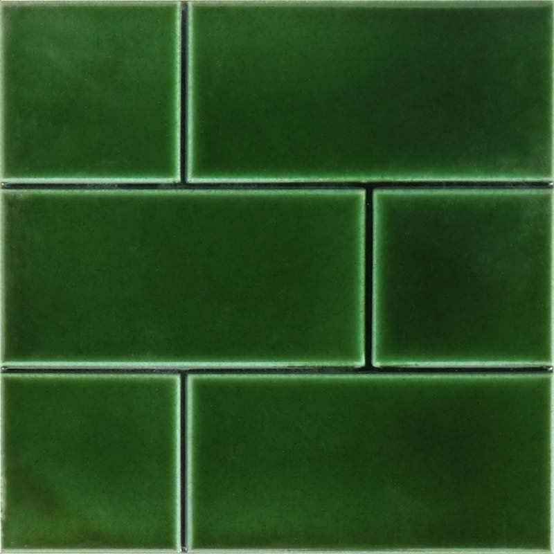 Green Kitchen Floor Tiles: 6 Inch Square Brick Effect Tile